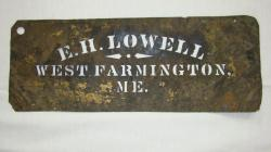 E.H. Lowell, West Farmington, Maine