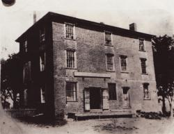 Crosby's Grist Mill Store, called Old Brick Store, Hampden, built in 1807