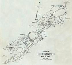 Survey Chart, Islesboro, 1884