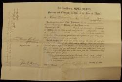 Swanton Infantry Election Papers, Bath, 1863