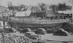 Morse Shipyard, Water Street, Thomaston, Maine c 1940