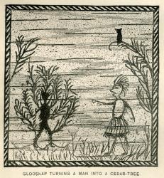 Glooskap Turning a Man Into a Cedar Tree, ca. 1884
