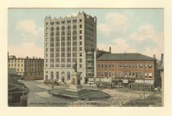 Monument Square showing Soldier's Monument and Fidelity Building, Portland, ca. 1910