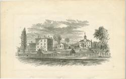 Westbrook Seminary, Campus Engraving, ca. 1862