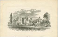 Westbrook Seminary, Campus Engraving, ca. 1862