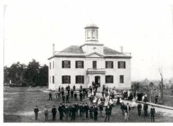 The Seminary Building, Westbrook Seminary, 1868
