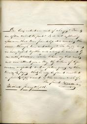 H.B. Walker autograph book entry, Westbrook, 1846
