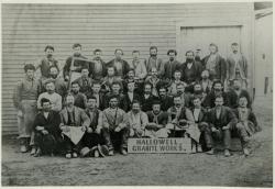 Workers, Hallowell Granite Works, Franklin Street, ca. 1895