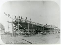 'Delia Chapin' construction, Dunstan Landing, Scarborough, 1847