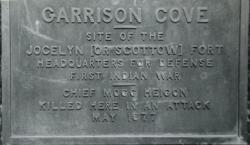 Garrison Cove Marker on Black Point Road in Scarborough