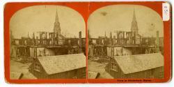 Shaw's Block ruins, Biddeford, 1872