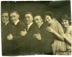 J. J. Salvas and Franco actors, Biddeford, ca. 1925