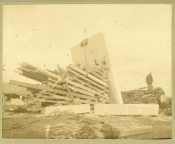 Largest Granite Slab cut from Hains Ledge Quarry, Hallowell, ca. 1895