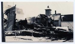 Remains of Guilford Town Hall after fire of 1928