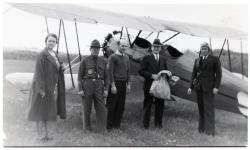Inauguration of Air Mail Service to Guilford, 1938