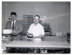 Abe Morris and Gordon Crockett, Guilford, ca. 1950
