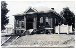 Guilford Library with war memorials, ca. 1950