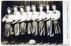 Guilford High School girls basketball team, Guilford, 1908