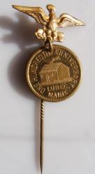 Centennial stickpin, Lubec, 1911