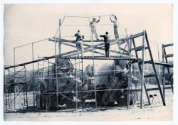 Backstop construction, Guilford, 1965