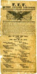 Odd Fellows Poster/Broadside, Biddeford, ca. 1855