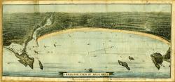 Balloon view of Saco Bay, including Biddeford Pool, ca. 1880
