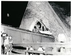 Train Wreck, Hubbard Free Library, Hallowell, 1937