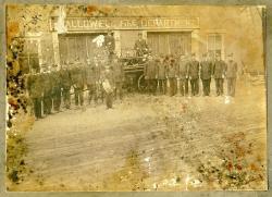 Tiger Pumper, Second Street Fire Station, Hallowell, ca. 1900