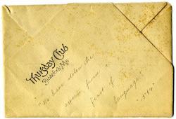 Thursday Club meeting menu, Biddeford, ca. 1900
