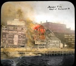 Fairbanks Building on fire, Bangor, 1911