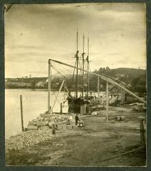 Granite Loading Wharf, Hallowell, ca. 1890