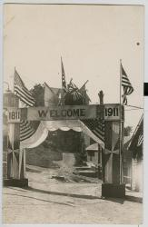 Centennial Welcome Arch, Lubec, 1911