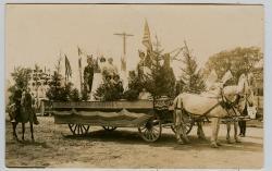 Degree of Pocahantas float, Lubec, 1911