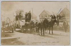 Centennial Celebration float, Lubec, 1911