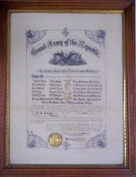 U.S. Grant post #143 charter, Biddeford, 1885