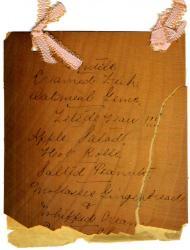 Thursday Club meeting menu, Biddeford, 1897