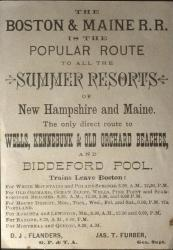 Boston and Maine Railroad Poster, ca. 1890