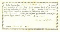 Pew payment receipt, Biddeford, 1806, 1807, 1810