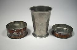 Civil War collapsible cup, ca. 1862