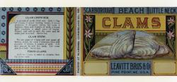 Leavitt Bros. Clam Label ca 1910