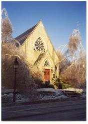 Ice Storm, Hubbard Free Library, Hallowell, 1998