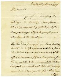 Letter to George Thacher, 1789