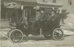 Will Brown with his Ford, Lincoln, ca. 1910