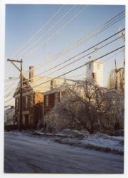 Ice Storm, Second Street, Hallowell, 1998