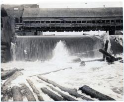 Saw Logs Over the Dam, Guilford, ca. 1880