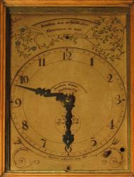 Wall clock face, Blue Hill, 1790