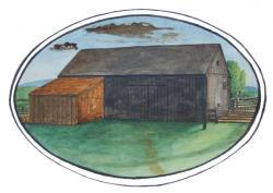 Barn Watercolor, Blue Hill, ca. 1826
