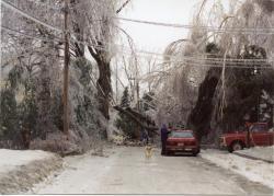 Ice Storm, Academy St., Hallowell, 1998