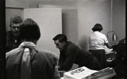 Putting Together First Issue of Weekly Packet, December 1, 1960