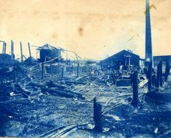 Plaisted Tannery Fire, Lincoln, 1899